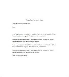 letter of thanks and appreciation after a funeral 8 funeral thank you notes free sle exle format free premium templates