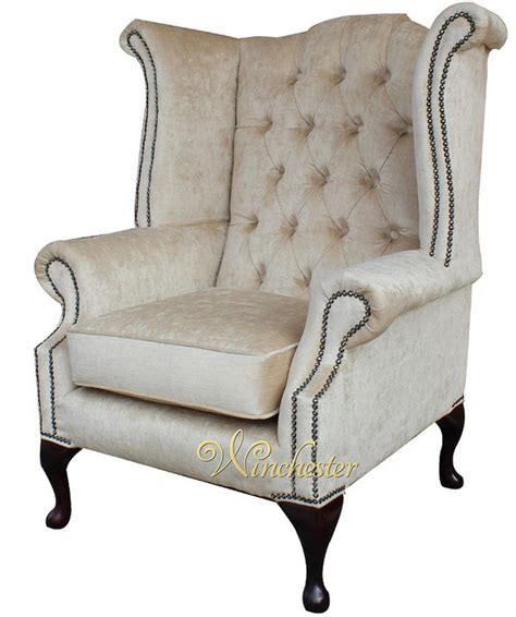 traditional fabric high back sofas chesterfield velvet queen anne high back wing chair perla