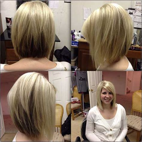 Shoulder Length Angled Bob | medium length inverted bob back view www pixshark com