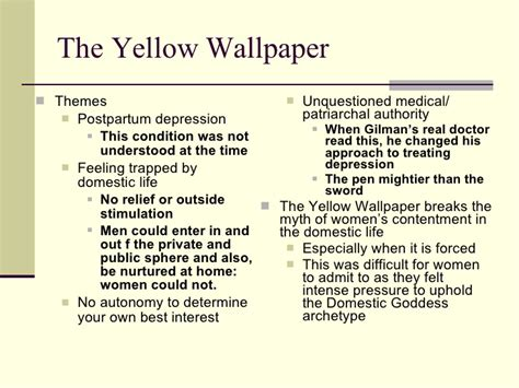 The Yellow Wallpaper Essay by Unit 5 S Voices