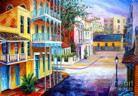 Trippy Wall Murals french quarter sunrise by diane millsap