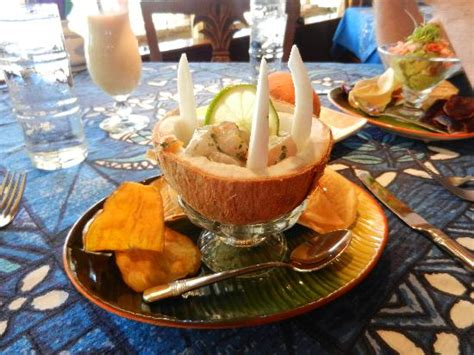 Mamas Fish House Gift Card - amazing ceviche appetizer with lime and coconut picture of mama s fish house paia