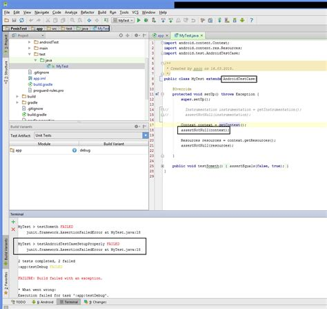 android studio unit test tutorial getting context in androidtestcase or