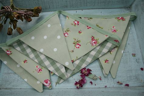 Handmade Bunting - handmade fabric bunting by primitive
