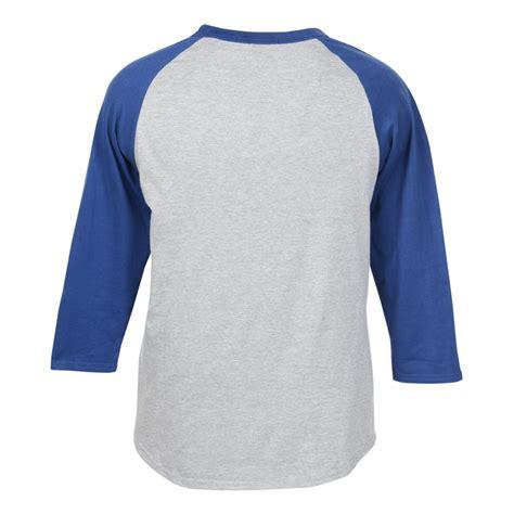 T Shirt 3 4 4imprint colorblock 3 4 sleeve cotton baseball t