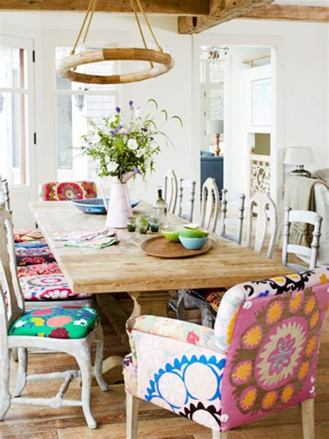 Colourful Dining Table And Chairs Colorful And Vibrant Picturesque Dining Room Ideas