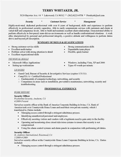 entry level warehouse resume exles resume template