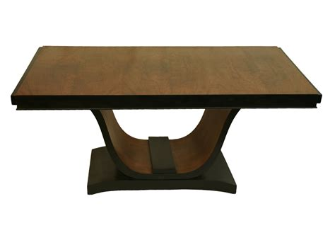 art deco dining room table french art deco dining room table u swan base walnut