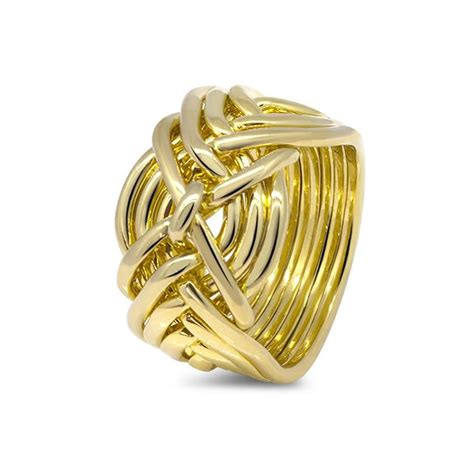 mens gold 9d m puzzle rings creations