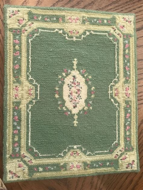 teppich 2 00 x 2 50 dollhouse miniture vintage rug in aubusson style