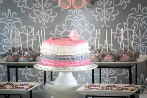 Pink And Gray Baby Shower Decorations by Kara S Ideas Pink Gray Princess Themed Baby