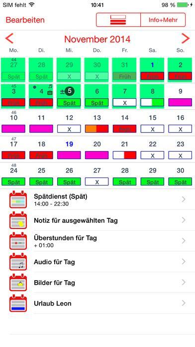 Calendario M App Dienstplan Kalender Im App Store