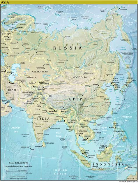 asien map map of asia relief map worldofmaps net maps