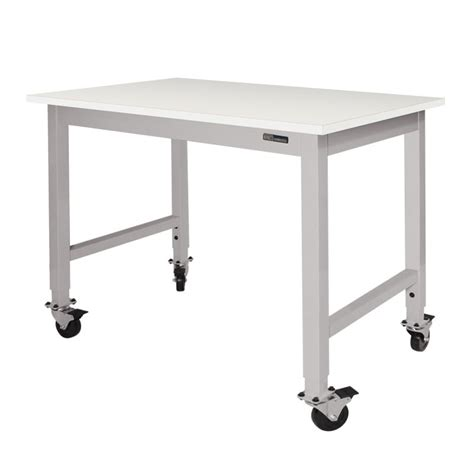 mobile lab bench iac mobile rolling lab bench table chemsurf 174 chemical resistant top equipmax