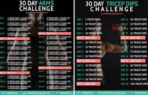 Check out the 30 day arms amp triceps dips challenge below and let us