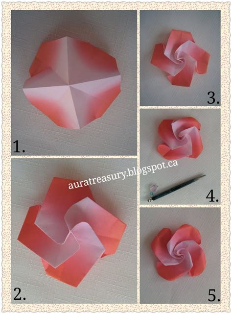 One Paper Origami - free coloring pages aura treasury diy s