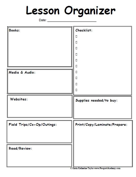 Lesson Plan Template Preschool Printable by Free Preschool Lesson Plan Template Printable Sanjonmotel