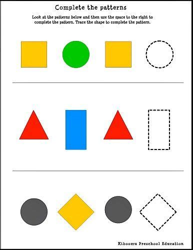 follow a pattern en francais pattern recognition worksheet for kids this printable