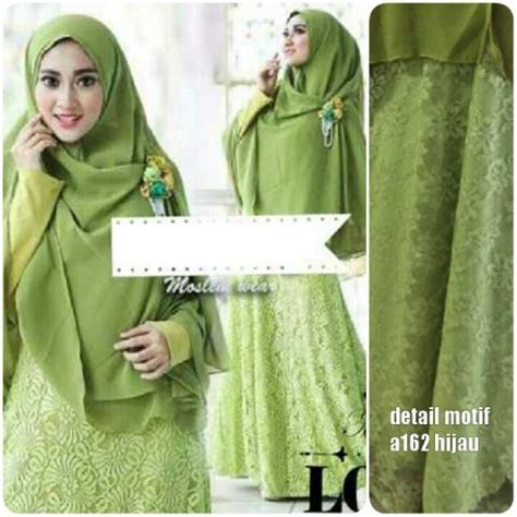 Mukena Amaly Terbaru 2016 Glitter Brokat Batik Katun Fashion Muslim gamis brukat glitter a162 baju muslim pesta