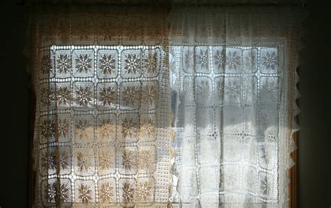 crochet lace curtain pattern sunflower hand crocheted lace diy curtain panel for