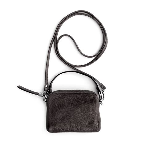 Cross Bag black leather mini cross bag caroline gardner uk