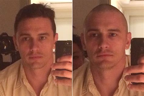 head shave before and after james franco posts before and after selfies while shaving