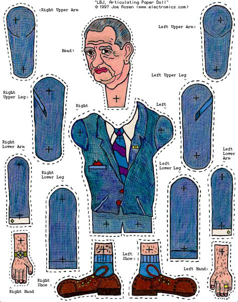Make Your Own Paper Doll - liberty and all the rest make your own lbj
