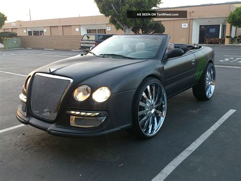 custom bentley convertible chrysler sebring 20 rims