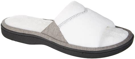 isotoner microterry slippers isotoner womens mei microterry slide slippers ebay