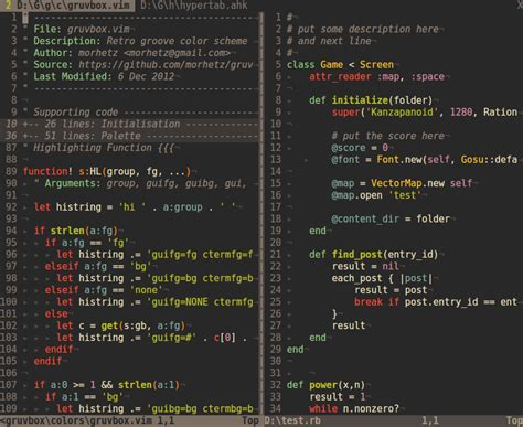 color themes vim your favorite colorscheme for terminal vim with 256 colors