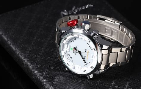 Weide Japan Quartz Silicone Putih Silver Stainless Steel weide jam tangan stainless steel silver wh2309