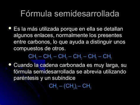 cadenas carbonadas tipos de cadenas carbonadas