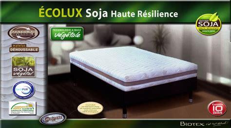 matelas soja matelas biotex 201 colux soja haute r 233 silience densit 233 55 kg
