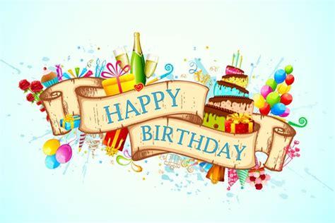 happy birthday design in photoshop exquisite ribbon birthday background vector graphics my