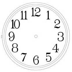 Clock Template by Clock Templates Clipart Best