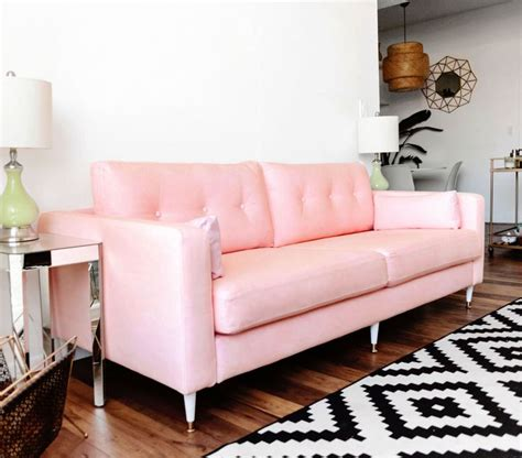 Ikea Rosa Sofa by 17 Best Ideas About Pink Sofa On Blush Grey