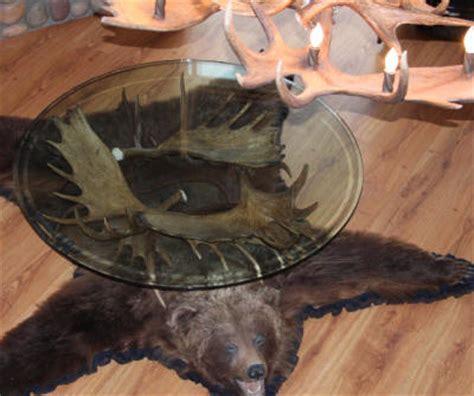 handcrafted antler tables alaska yukon moose