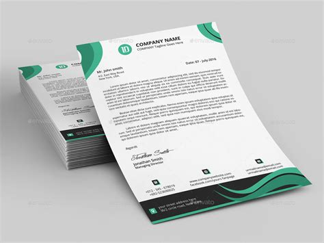 15 creative professional letterhead template word