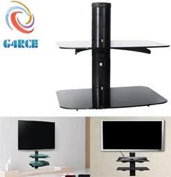 2 tier floating wall mount bracket shelf sky box dvd xbox