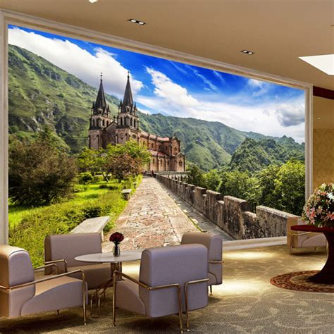 living room murals aliexpress com buy continental stereo tv background wall