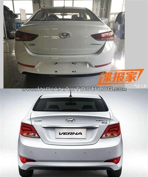 hyundai verna 2014 model 2017 hyundai verna vs outgoing model rear vs new