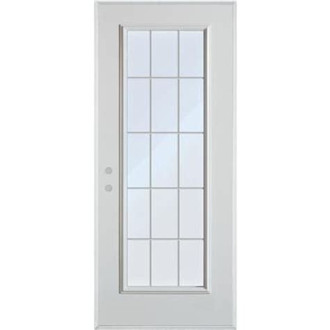 Home Depot Canada Doors Exterior Stanley Doors 15 Lite Grille Painted Steel Entry Door 9210p P 34 R Home Depot