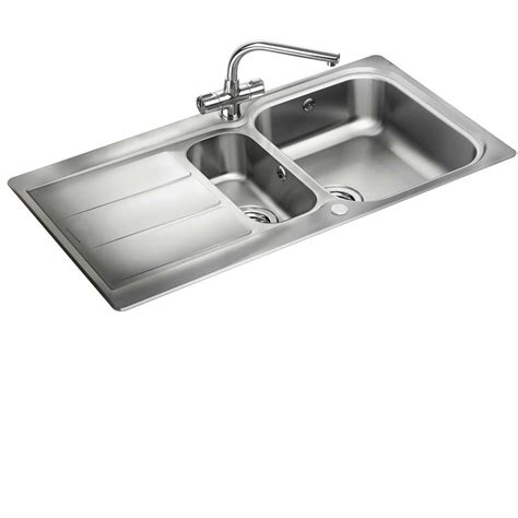 kitchen sink co rangemaster glendale gl9502 stainless steel sink