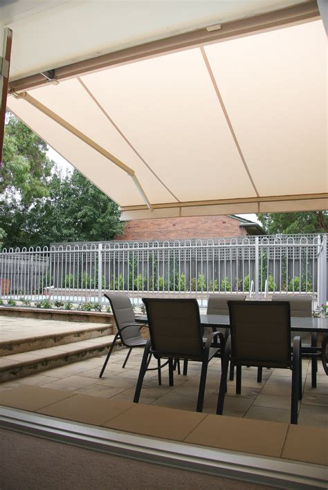 Collapsible Awnings by Folding Arm Retractable Awnings Accent Blinds