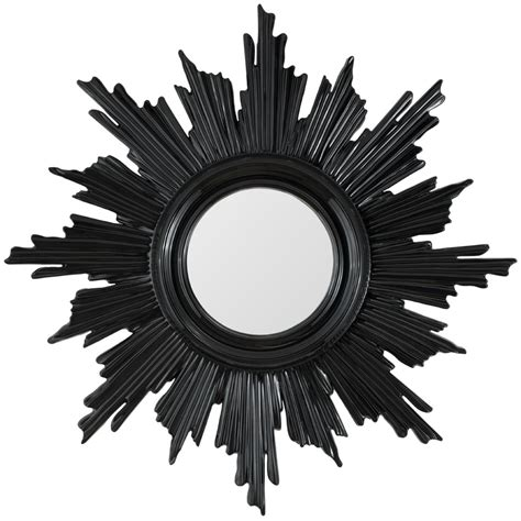 sunburst mirror finished in black lacquer mirror image home