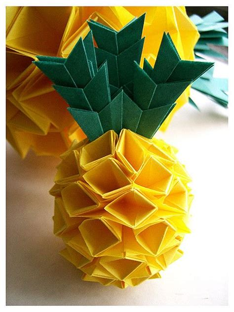 Origami Pineapple - pineapple origami origami papercraft