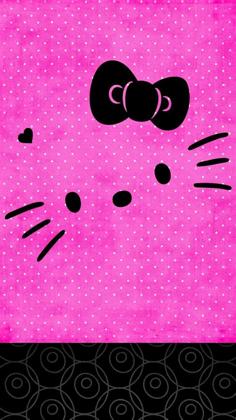 wallpaper hello kitty pink hitam 174 best wallpapers images on pinterest iphone