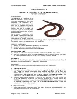 earthworm dissection lab conclusion earthworm dissection