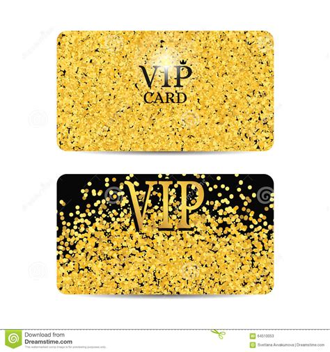 Vip Discount Card Template by Gold Sparkles On Black Background Gold Vip Card Stock