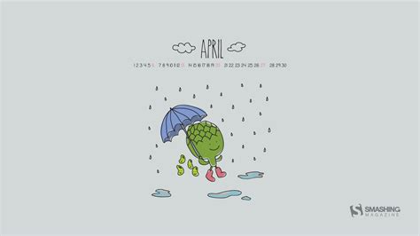 Sweet April Showers Do May Flowers by Desktop Wallpaper Calendars April 2014 Idevie